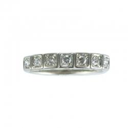 Memory- Ring mit 7 Diamanten