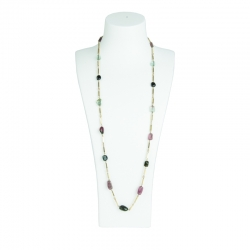 Lange Halskette mit Turmalinen