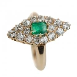 Smaragd & Diamantring