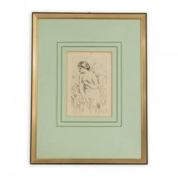 """""""Badendes Mädchen"""" Radierung nach Auguste Renoir"""