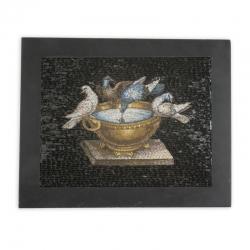 Mikromosaik mit Taubenmotiv aus Italien